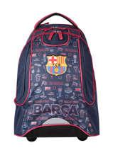Wheeled Backpack Fc barcelone Blue blason 203F204R