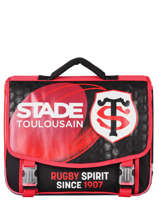 Cartable 2 Compartiments Stade toulousain Rouge rugby 173T203S