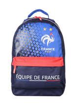 Sac à Dos 1 Compartiment Federat. france football Bleu le coq 213X204B