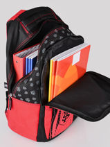 Sac A Dos 3 Compartiments Stade toulousain Rouge rugby 213T204I-vue-porte
