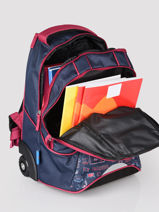Wheeled Backpack Fc barcelone Blue blason 203F204R-vue-porte
