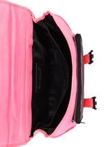 Satchel 2 Compartments Little marcel Pink school 330120-vue-porte