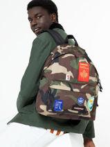 Sac A Dos 1 Compartiment Eastpak Black patch it K620PATC-vue-porte