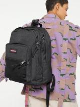 Backpack Pinnacle Eastpak Black pbg authentic PBGK060-vue-porte