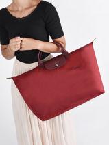 Longchamp Le pliage green Travel bag Red-vue-porte