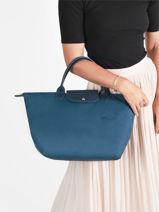 Longchamp Le pliage green Handbag Blue-vue-porte