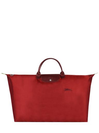 Longchamp Le pliage green Travel bag Red