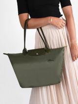 Longchamp Le pliage green Hobo bag Green-vue-porte