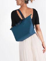 Longchamp Le pliage green Hobo bag Blue-vue-porte