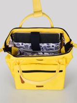 Backpack S 1 Compartment Cabaia Yellow tour du monde S-vue-porte
