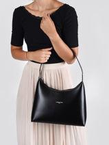 Bucket Bag Suave Leather Lancaster Black suave 21-vue-porte