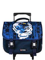 Wheeled Schoolbag 2 Compartments Lego Blue ninjago 9