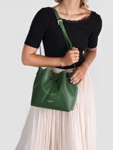 Crossbody Bag Pur Leather Lancaster Green pur 18-vue-porte