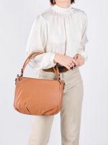Shoulder Bag Confort Leather Hexagona Brown confort 466565-vue-porte