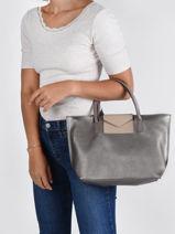 Shopping Bag Maya Lancaster Silver maya 18-vue-porte