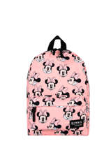 Sac A Dos 1 Compartiment Mickey and minnie mouse Rose fashion 1784