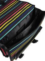 Satchel 2 Compartments Little marcel Multicolor raye 8874-vue-porte