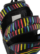 Backpack With Wheels 2 Compartments Little marcel Multicolor raye 8875-vue-porte