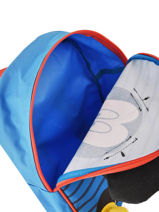 Mini Backpack Mickey Mickey Blue stripe MICNI03-vue-porte