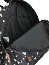 Backpack Mini Mickey and minnie mouse Black fashion 88-8335-vue-porte