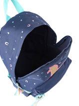 Backpack Unicorn 1 Compartment Milky kiss Blue jump 947-vue-porte