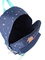 Sac A Dos 1 Compartiment Milky kiss Bleu jump 947-vue-porte