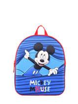 Sac à Dos 1 Compartiment Mickey Bleu stripe MICNIO3