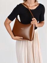Bucket Bag Suave Leather Lancaster Brown suave 21-vue-porte