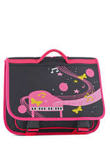 Satchel 2 Compartments Miniprix Pink music 1507