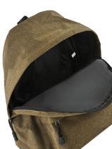 Backpack 1 Compartment Miniprix Green basic 8007B-vue-porte