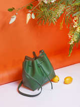 Crossbody Bag Pur Leather Lancaster Green pur 18