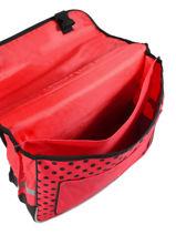 Cartable Ladybug Miraculous Rouge flocon 22240LTF-vue-porte