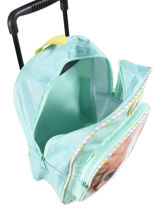 Backpack On Wheels 1 Compartment My favorite Green friends 484598-vue-porte