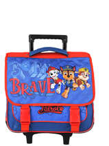 Wheeled Schoolbag 2 Compartments Paw patrol Blue brave PAWNI18