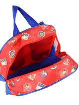 Backpack 1 Compartment Sam le pompier Red team sam 4347FIRE-vue-porte