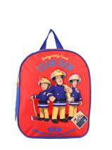 Sac à Dos 1 Compartiment Sam le pompier Rouge team sam 4347FIRE