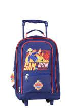 Wheeled Backpack Sam le pompier Blue brave 4340BRV