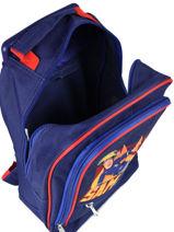 Wheeled Backpack Sam le pompier Blue brave 4340BRV-vue-porte