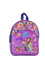 Backpack Soy luna Multicolor purple line 3LUNA