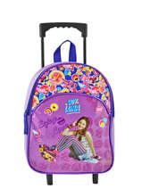 Wheeled Backpack Soy luna Multicolor purple line 4LUNA