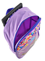 Wheeled Backpack Soy luna Multicolor purple line 4LUNA-vue-porte