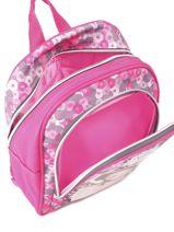Backpack 1 Compartment Violetta Pink music PL10VI14-vue-porte