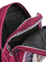 Backpack 2 Compartments With Free Pencil Case Teo jasmin Violet teo apache TAI22038-vue-porte