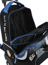 Wheeled Backpack 2 Compartments Real madrid Black 1902 183R204R-vue-porte