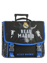 Wheeled Schoolbag 2 Compartments Real madrid Black 1902 183R203R