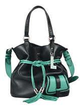Top Handle Premier Flirt Leather Lancel Green premier flirt A11771