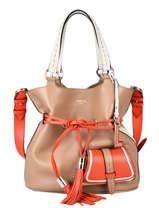Medium Leather Bucket Bag Premier Flirt Lancel premier flirt A10531
