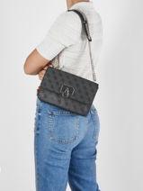 Shoulder Bag Alisa Guess Black alisa SG812321-vue-porte