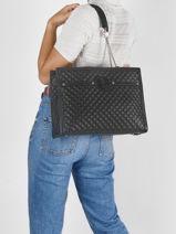 Shoulder Bag Heyden Guess Black heyden QE813423-vue-porte