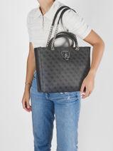Shoulder Bag Alisa Guess Black alisa SG812323-vue-porte